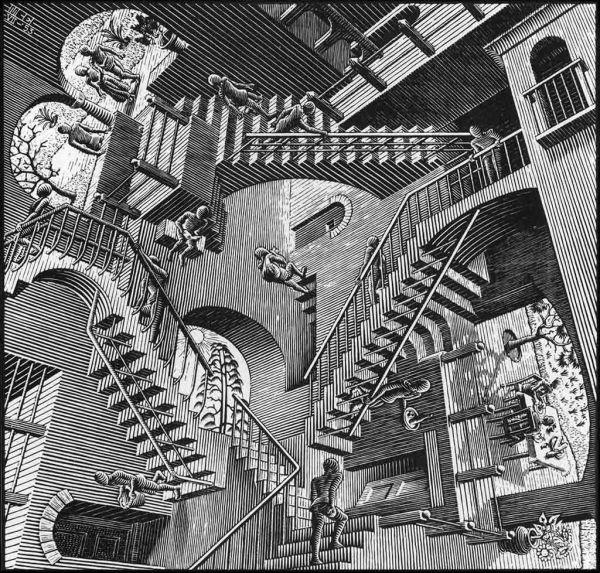 Relatività, Maurits Cornelius Escher (1953)