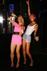Party Night KIABI, 15 settembre 2016; Ema Stokholma con Ania J