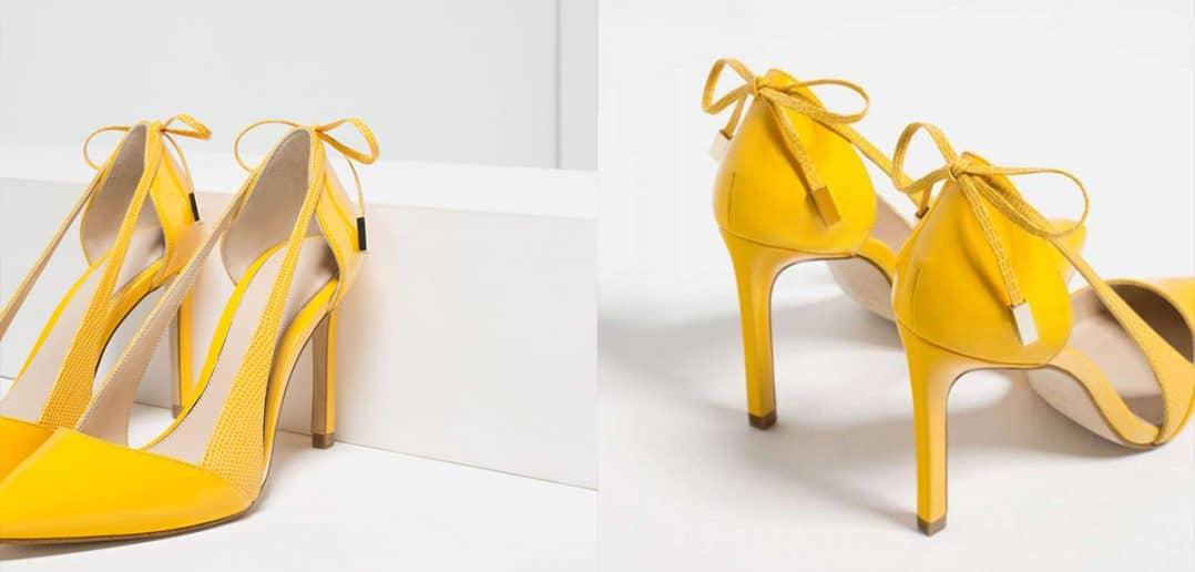 Cover outfit giallo - Scarpe Zara