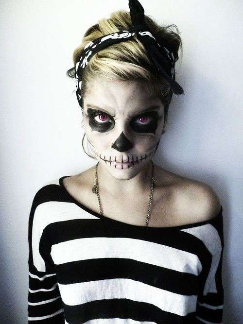make-up-da-moderno-scheletro-per-halloween