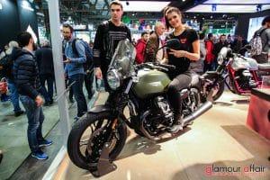 Eicma 2016, Milano Rho Fiera; Stand Moto Guzzi; Eicma girl