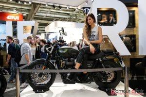Eicma 2016, Milano Rho Fiera; Stand Triumph; Eicma girl