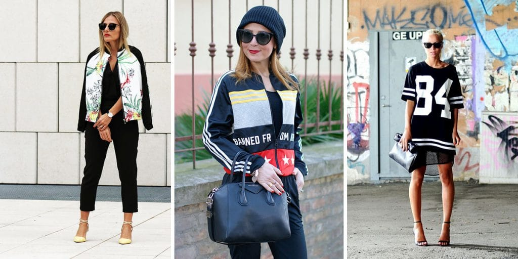 Trend - Sporty chic; Ph. Credits: Eniwhere Fashion; Fashion and Cookies; Pinterest