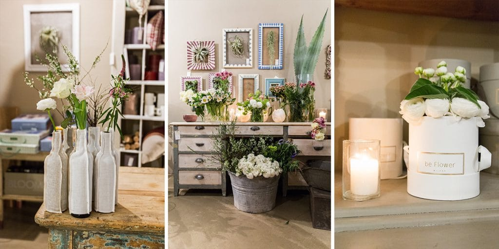 Showroom Be Flower a Milano, in via Rovello 17