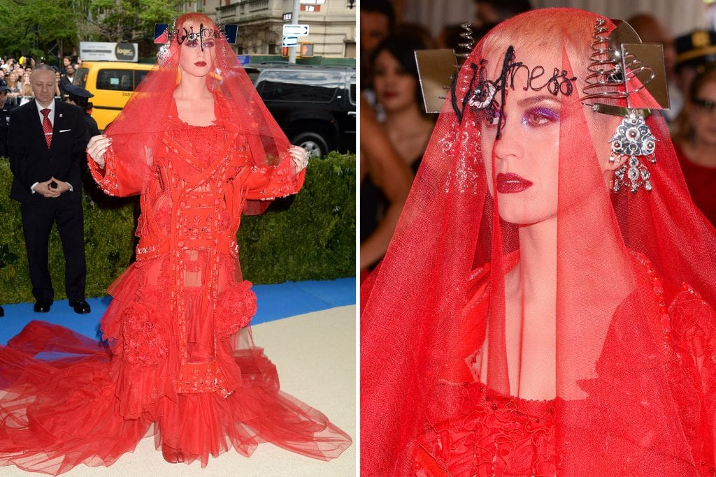 Katy Perry in Maison Margela