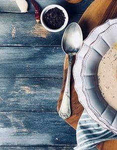 Ricetta, rema di fagioli con gamberi saltati ; GAreview; Magazine fotografico di glamouraffair.com
