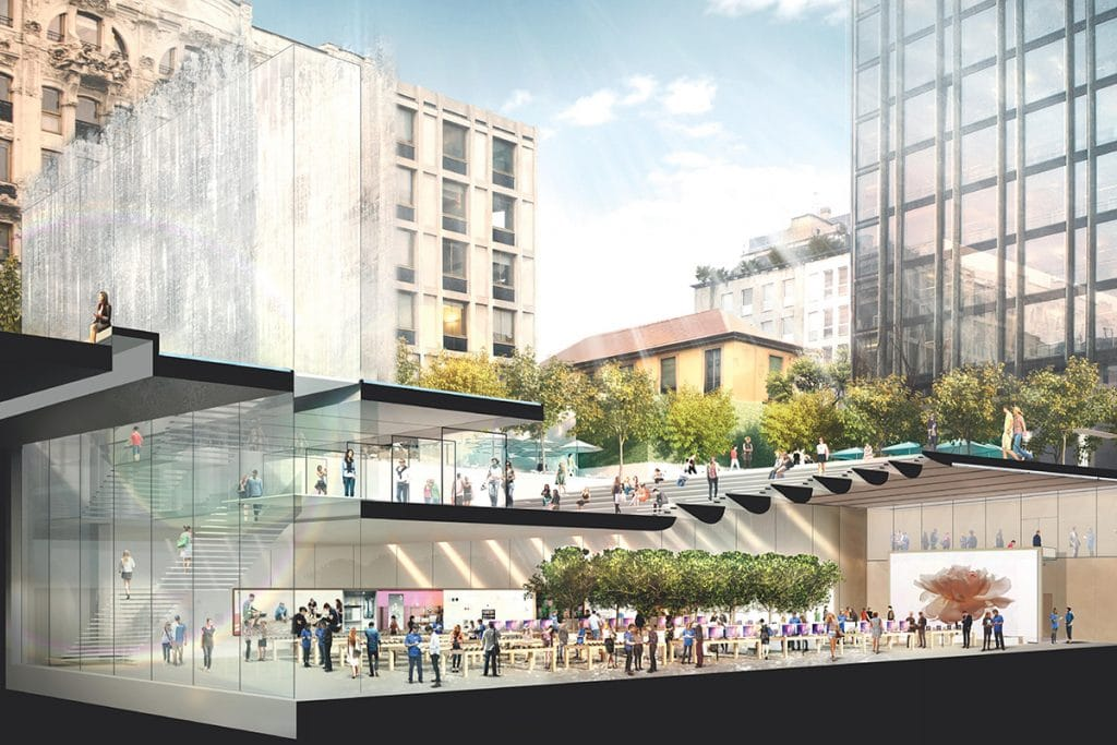 Inaugurazione Apple Store Milano, Norman Foster and Partners