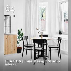 Flat 2.0, Line Design Studio, . GlamourAffair Vision 06, Novembre Dicembre 2019. Magazine di fotografia, arte e design di Glamouraffair.com